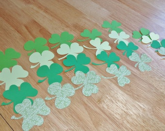 Die Cut Green Shamrocks, St Patrick's Day Party Scrapbooking  24 Shamrocks