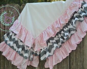 CUSTOM Ruffled Crib Skirt