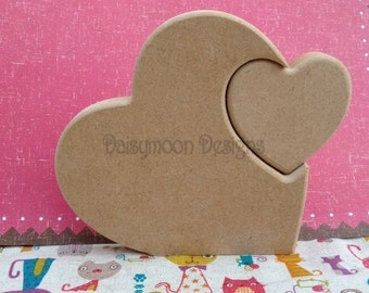 Mdf freestanding heart with heart cut out