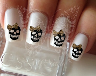 Nail Art Leopard Skull Nail Water Decals Transfers Wraps