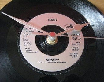 "INXS mystify  7"" vinyl record clock"