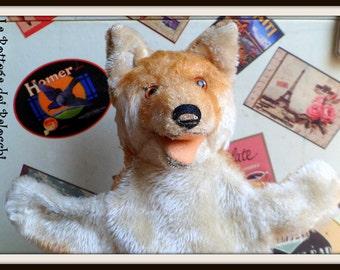 Steiff Hand Puppet Fox vintage.