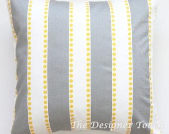 Yellow Grey Pillow Cover Grey Yellow Pillow Grey Lumbar Grey Euro Sham Grey Cushion Cover 18x18 Any Size Grey White Decorative Pillow