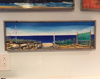 "Sayville Beach LI 8"" x 24"""