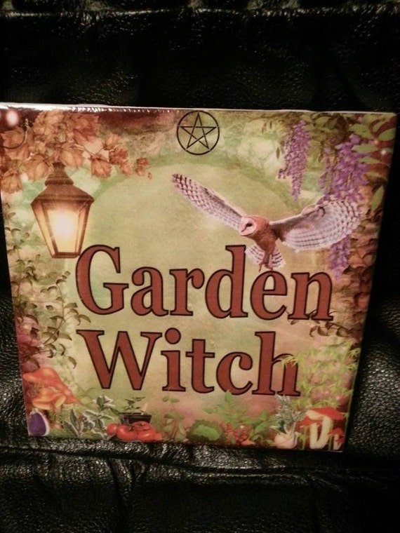 Comwitch Home Decor : Garden Witch Tile Home Decor Plant Happiness by OpenPathTreasures