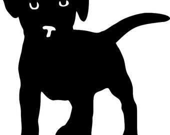 SVG Cutting Pattern  Puppy - For printing, stencils, cutting and material printing