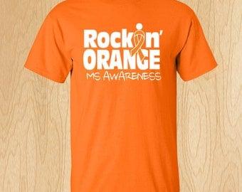 "Multiple Sclerosis ""Rockin' Orange"" T-shirt"