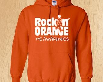 "Multiple Sclerosis ""Rockin' Orange"" Sweatshirt"