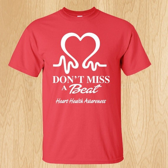 Items similar to heart health awareness t shirts on etsy for Best selling t shirts on etsy