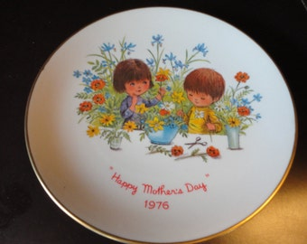 Fran Mar Moppets Mother's Day 1976 plate