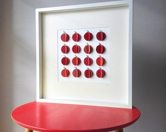 "Paper ""BOX of APPLES"" Art (LWAMR-001) – Red"