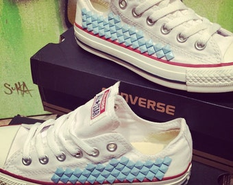 Custom Studded Converse - Chuck Taylor - ALL SIZES & COLORS! *Any color studs!*