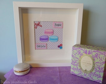 Macaron Papercraft Picture- Parisian Chic, Colourful Macaroons!