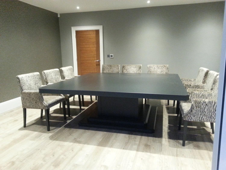 10 o 12 o 14 posti piedestallo molto grande quadrato tavolo for Tavolo quadrato grande