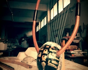 The Golden Lyre of Erato - Lover's Ancient Greek Lyre (Chelys - 9string) - Top Quality HandCrafted Musical Instrument