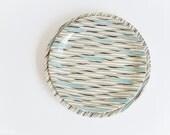 Wood + Sons 'Samba' Plates - 1950s Zebra Stripe - Black Grey Blue