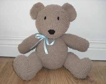 Soft & Cuddly Teddy Bear Hand Knitted Toy (made from a Jean Greenhowe pattern).