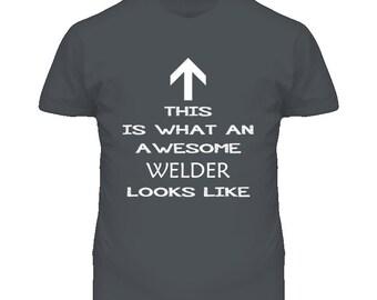 Welder Looks Like Arrow Simple T Shirt