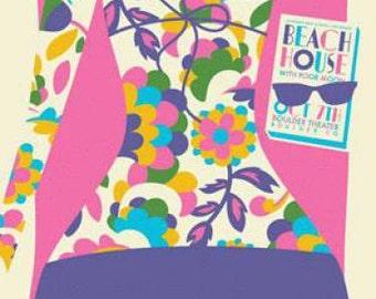 Beach House  Boulder 2012 concert poster dan stiles silkscreen original