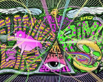 Flaming Lips Primus 2011 Red Rocks concert poster serlo Original