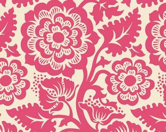Joel Dewberry Heirloom Blockprint Blossom Fuchsia - 1 yard