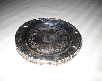 Silver Plated Coasters - Set of 4