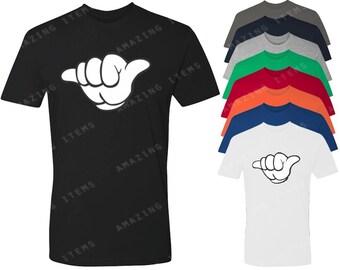 Mickey Hands Call Me Men's T-shirt Cartoon Hands Shirts