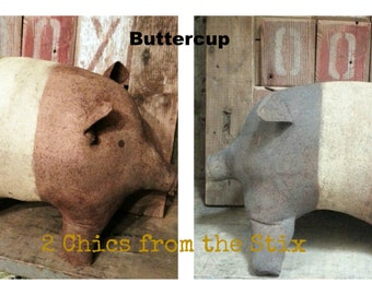 Buttercup the Pudgy 4 legged Pig E-PATTERN