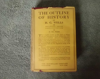 Vintage The Outline of History by H.G. Wells  1924 Third Edition