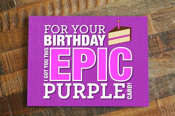 purple birthday cards