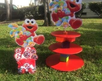 Elmo Sesame street Centerpiece, Elmo baby shower centerpiece, Baby elmo