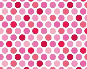 Riley Blake Lovey Dovey Dots Pink (Half metre)