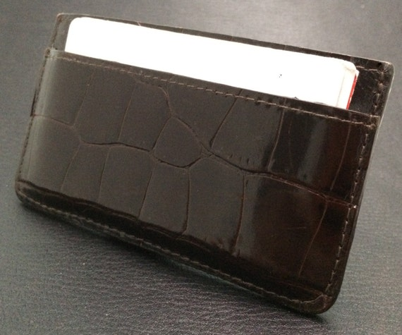 100% handmade real leather cardholder - Special skin pattern