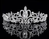 Ready to ship ****Austrian Crystal Tiara Silver Rhodium plated ...