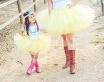DIY Yellow Tutu at Tiffany's Tutu Kit- EVERYTHING INCLUDED!- Country girl tutu, balloon photo shoot