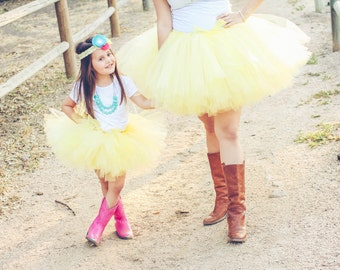 DIY Yellow Tutu at Tiffany's Tutu Kit- EVERYTHING INCLUDED!- Country girl tutu, balloon photo shoot