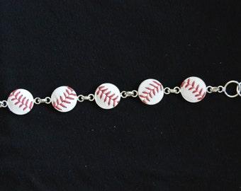 Baseball Bracelet 5 Stitch- Classic- Silver Plated