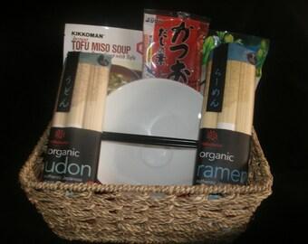 Japanese Noodles and Tea Gift Basket