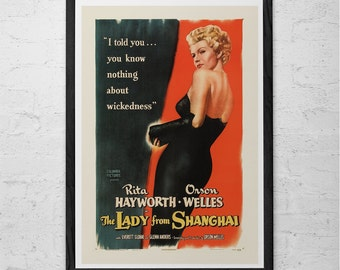 CLASSIC MOVIE POSTER -  Orson Wells Movie Poster - Rita Hayworth Movie Poster Classic Film Poster - High Quality Reproduction