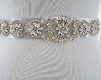 Wedding Belt, Bridal Belt, Sash Belt, Crystal Rhinestone Belt, Style 147