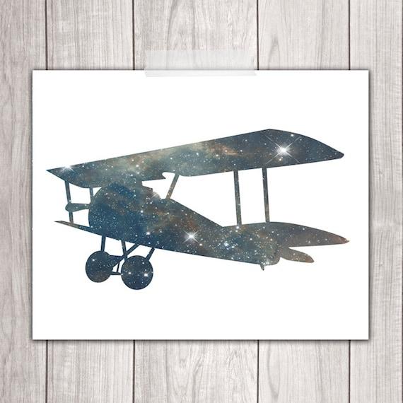 Airplane Wall Decor Nursery : Airplane wall decor prints printable nursery