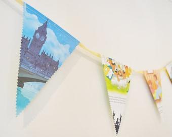 Disneys Peter Pan Neverland Book 2.6m Book Bunting Banner