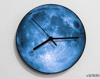 Blue Moon - Moon Wall Clock