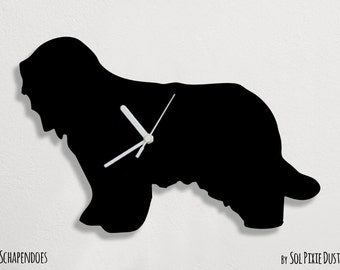 Schapendoes  Dog - Wall Clock