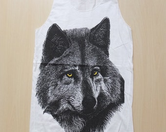 Wolf Tiger Animal Punk Rock Fashion T-Shirt Vest Tank Top