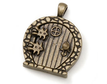 Fairy Wish Door Locket with Hinges and Round Top, Bronze Finish #BG2007