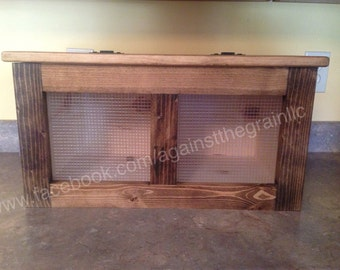 Handmade wooden rustic potato-onion-vegetable bin, Also called tater,tator bin,Can be used as space saving kitchen storage-bin as well