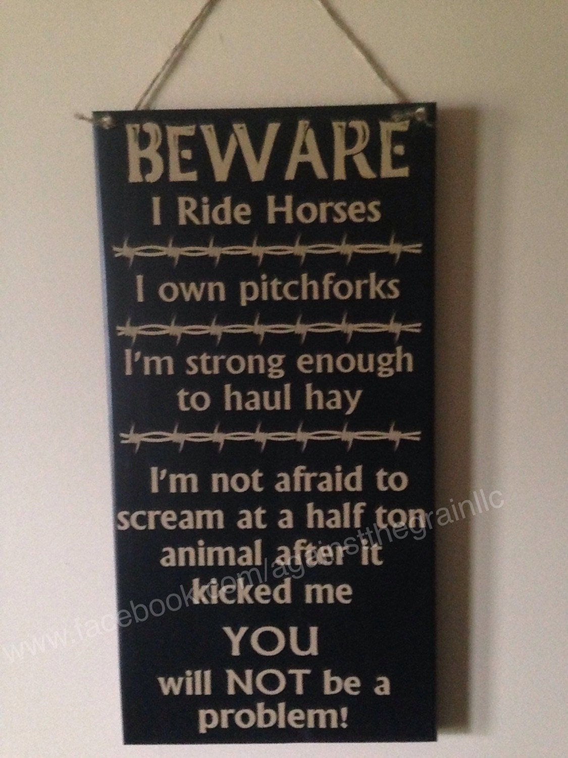 Beware I Ride Horses I Own Pitchforks I Am Strong Enough To