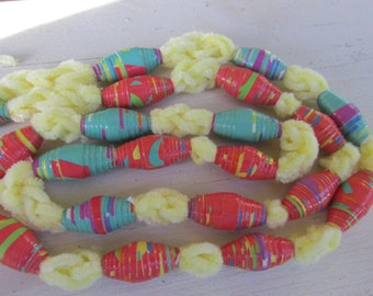 Paper Beads  Party Colors Paper Beads