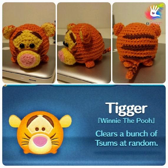 Amigurumi Tsum Tsum Free Pattern : Tsum Tsum Tigger Pattern by uDezignCrafts on Etsy